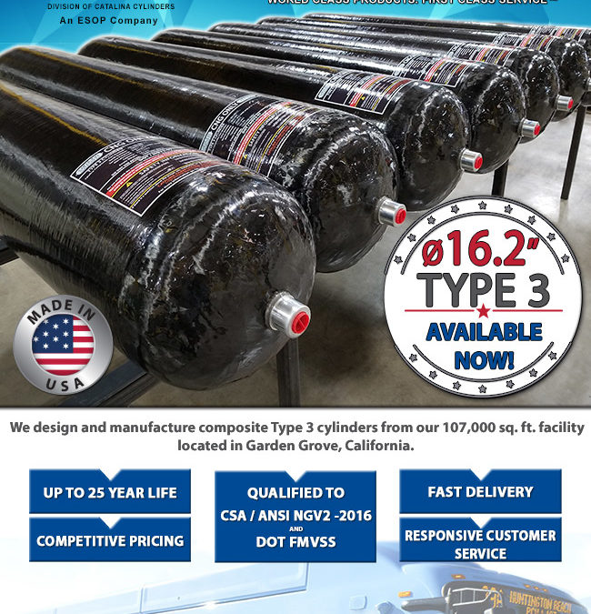 Composite Cylinders – Type 3 NOW AVAILABLE!